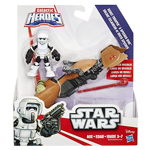 Playskool Heroes Star Wars Galactic Heroes Speeder Bike and Scout Trooper by Playskool