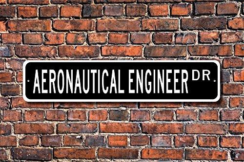 CELYCASY - Señal de ingeniero aeronáutico con texto en inglés'Aeronautical Engineer'