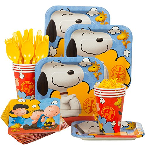 Costume Supercenter BBKIT1072 Peanuts Birthday Standard Tableware Kit by Costume SuperCenter