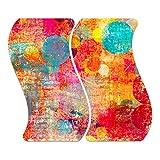 Con piedini antiscivolo 8mm elasticoPer vetro di ceramica/vetroceramica e induzione vetroceramica L' esclusivo piastre di vetro decorativo proteggere in vetroceramica, gas e induzione e a parete e piano di lavoro contro graffi e sporco.In questi her...