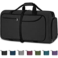 NEWHEY Foldable Travel Duffle Bags for Men Weekend Overnight Bag Sports Gym Bag with Shoe Compartment Folding Luggage…