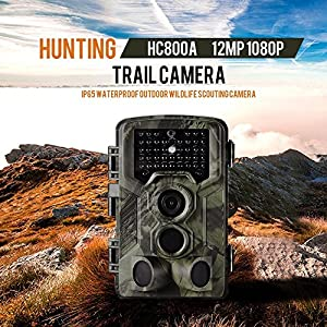 Lixada Trail Wildlife Camera 1080P IP65 Waterproof Hunting Camera with Infrared Night Vision 12MP /16MP 2G Optional -Camouflage