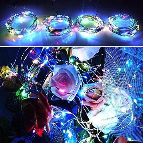 【10 pezzi】 SiFar 20 LED 2M Mini Lampada a fili di rame Multicolore, Luci stringa LED Luci d'atmosfera Bottiglia di vino, Luci stellate alimentate a batteria per bottiglie Fai da te, feste - 5