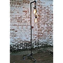 ZXLDD Lámpara de pie Vintage Industrial, Viento, Retro, Agua, Tubo, norteamericano, Pueblo, desván, habitación, habitación, Libro, Piso, lámpara Lámparas de hogar