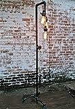 ZXLDD Vintage Stehlampe Industrieller Wind Retro Wasserpfeife Amerikanisches Dorf Loft Wohnzimmer Schlafzimmer Buch Stehleuchte Haushaltslampen
