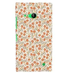 Citydreamz Floral Print Hard Polycarbonate Designer Back Case Cover For Microsoft Nokia Lumia 730