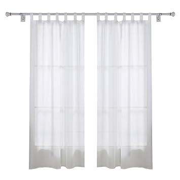 amazon.de: deconovo vorhang transparent gardinen wohnzimmer voile ... - Vorhange Wohnzimmer Weis