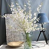 huichang Unechte Blumen Oncidium Hybridum, 1 Strauß Künstliche Oncidium Hybridum Blumen zur Dekoration Haus Garten Party Blumenschmuck (Weiß)