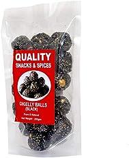 Quality Snacks And Spices Home-Made Sweetened Sesame/Ellunda Black Balls (Til Ki Laddu) 200 GM