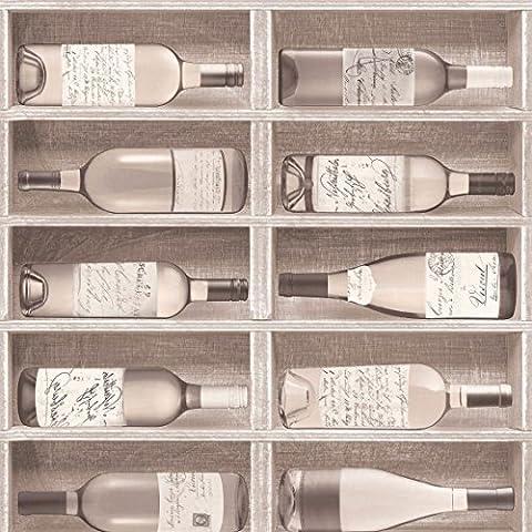 Fresco Great Value Vintage Wine Bottles Print Wallpaper 100047