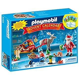 PLAYMOBIL – Calendario de Adviento Calendario de Navidad con Papá Noel Playsets de Figuras de jugete, Color Multicolor (5494)