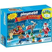 """Playmobil Calendario de Adviento - Calendario de Navidad """"Papá Noel Centro de Embalaje"""" (5494)"""