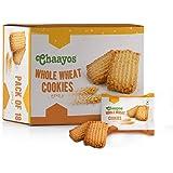 Chaayos Chai Time Snacks - Premium Wheat Cookies | Healthy Indulgence | 450g (18 Packs)