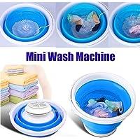 MDWK Mini machine à laver portable avec laveuse à turbine à ultrasons automatique alimentée par USB pour le voyage, le…