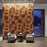 Walplus 360x 180cm Wand Aufkleber eckig Holz abnehmbarer selbstklebend Wandbild Kunst Abziehbilder Vinyl Home Dekoration DIY Living Schlafzimmer Décor Tapete Kinder Zimmer Geschenk, braun