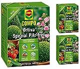 Compo Gardopia Sparpakete Ortiva Spezial Pilz-frei + Zeckenzange mit Lupe (3 x 20 ml)