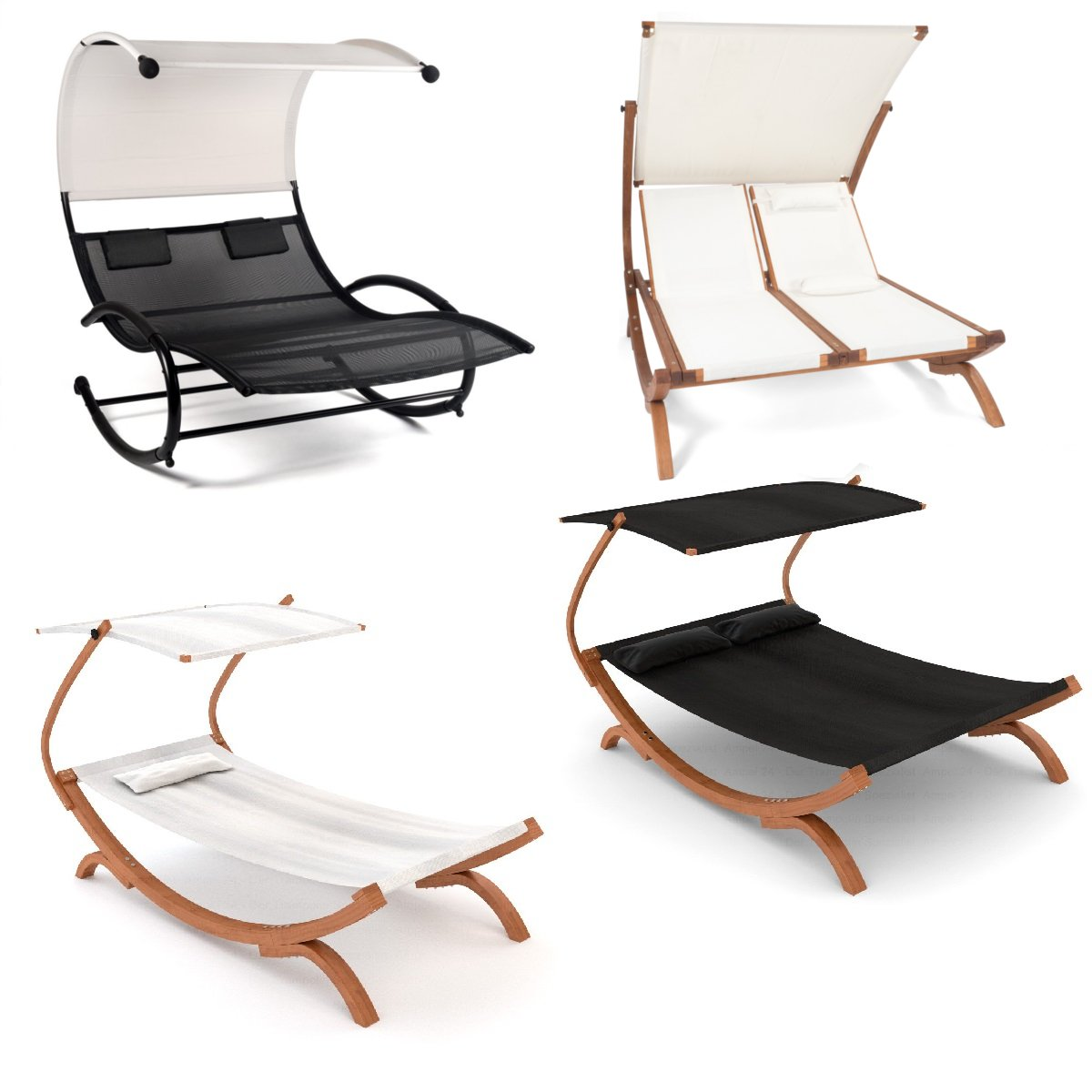 Ampel 24 Lounge Gartenmobel Weiss Oder Schwarz Relax Sonnenliege Mit Dach Holz Gestell Gartenliege Wetterfest Preisluchs Com