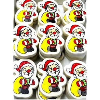 Novelty Santa Christmas Pencil Erasers pack of 30