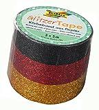 Folia 28506 - Glitzer Tape, 3er Set, schwarz, rot, gold