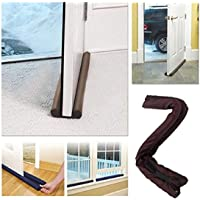 BMG Twin Draft Door Guard Blocking Dust and Door Clean Strip (Multicolour, Small)
