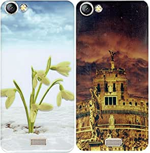 COMBO OFFER - LYF Water 11 Back Cover (two printed rubberised soft back covers)