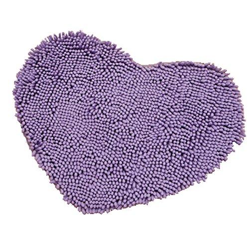 Rabatt Geflochtene Teppiche (Super Soft Chenille Herzförmige Schlafzimmer Teppich Tür Matte Teppich Lila)