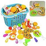 CT-Tribe 34 Stücke Küchenspielzeug Kinder Plastik Obst Gemüse Cutting Toy Pretend Play Kinder Rollenspiele Spielzeug