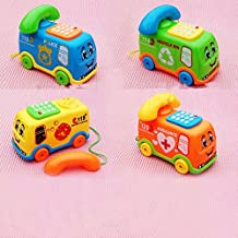 Bellecita Lindos Juguetes Que atraen Niños Juguetes educativos Teléfono de autobús Juguete Luces Musicales Juguete de