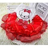 Sypure (TM) netter Bogen-Hundekleid Tutu Rock-Sommer-Welpen-Kleidung Prinzessin Dog Wedding Dress XS-XXL