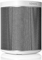 Sonos Play:1 Enceinte sans-fil multiroom wifi, haut-parleur hifi connecté pour diffuser votre musique préférée à partir de votre téléphone (iPhone, Android), tablette et ordinateur PC/Mac - Blanc