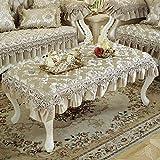 LZI Spitze Klavier Tischdecke,tv Tischtuch Kühlschrank Tuch Spitze Tischwäsche Europäischen Stil Tischdecken Für Home Hotel Cafe Restaurant,L-60x100cm(24x39inch)
