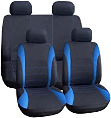 Auto Sitzbezug - TIROL Auto Sitzbezug Auto Innenraum Zubehoere Universal Stil Auto Adbeckung Blau