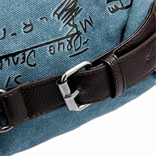 Cross Body Totes beginning Blau Leinwand Handtasche Allgleiches Schulterbeutel Auspicious Retro FIq0qX