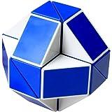EASEHOME Serpente Magico Speed Puzzle Cube, Cubo Magico Snake Magic Puzzle Cube con PVC Adesivo per Bambini e Adulti, Bianco