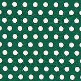 Fabulous Fabrics Baumwolljersey große Punkte dunkelgrün