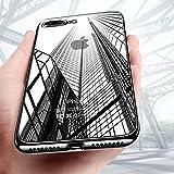 Coque iPhone 8 Plus, Coque iPhone 7 Plus, KKtick Housse Etui iPhone 8 Plus Silicone Gel TPU Souple avec Bumper Cadre Brillant Plaqué Case Cover pour Apple iPhone8 plus (Jet Black)