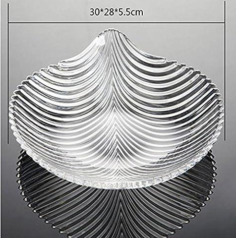 SQL Acrylic fruit plate creative fashion leaf-shaped acrylic water storage