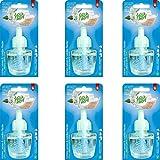 6x Fresh&More Duftstecker Kühles Leinen & Weiße Flieder Für Airwick Nachfüller 19ml