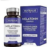 Melatonina Pura 1,8mg con Valeriana y Tila | Conciliar el Sueño, Insomnio y Descansar Mejor con Melatonina, Valeriana, Tila,