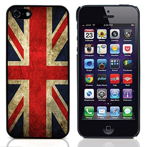 Graphic4You Vintage Uralt Vereinigtes Königreich UK Britisch Flagge Design Harte Hülle Case Tasche Schutzhülle für Apple iPhone 5 und 5S -