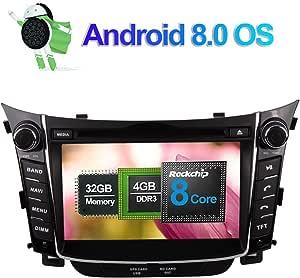 7 Zoll 4gb Ram Android 8 0 Autoradio Stereo Cd Dvd Multimedia Player Für Hyundai I30 2012