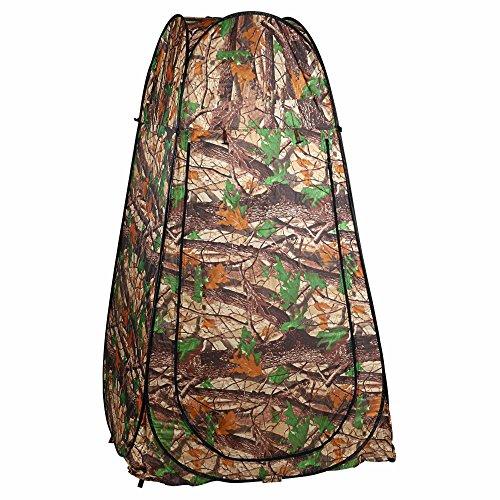 Tomasa Duschzelt Toilettenzelt, Zelt Pop up Umkleidezelt Portable Wasserdicht mit Aufbewahrungstasche für Outdoor Camping Wandern