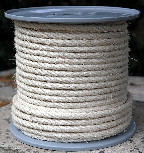 Preisvergleich Produktbild Sisalseil Durchmesser 8 mm - 50 Meter auf Scheibenspule Sisal-Seil