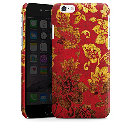 Apple iPhone 6 Housse Étui Silicone Coque Protection Ornements Fleurs Fleurs Cas Premium brillant