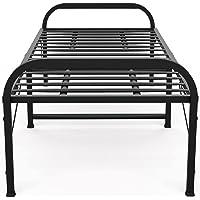 Honey Touch® Folding Bed for Sleeping, Single Bed Metal Frame, Matte Finish (2.5 ft x 6 ft, Black)