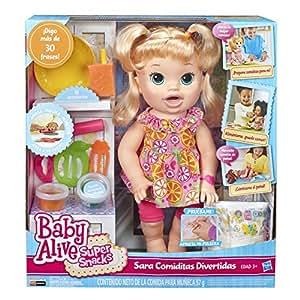 Buy Baby Alive Super Snacks Snackin Sara Blond Doll For