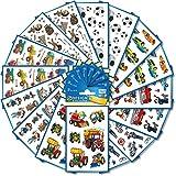 AVERY Zweckform Sticker 518 Stück Set Jungen (Aufkleber, Kindersticker, Fußball, Traktor, Piraten, Autos, Polizei, Feuerwehr, Baustelle, Kindergeburtstag, Mitgebsel, Gastgeschenke) Art. 59991