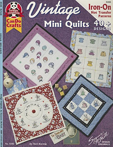 Vintage Mini Quilts: 40+ Designs: Iron-On Hot Transfer Patterns (Design Originals) (Quilt Pattern Transfer)