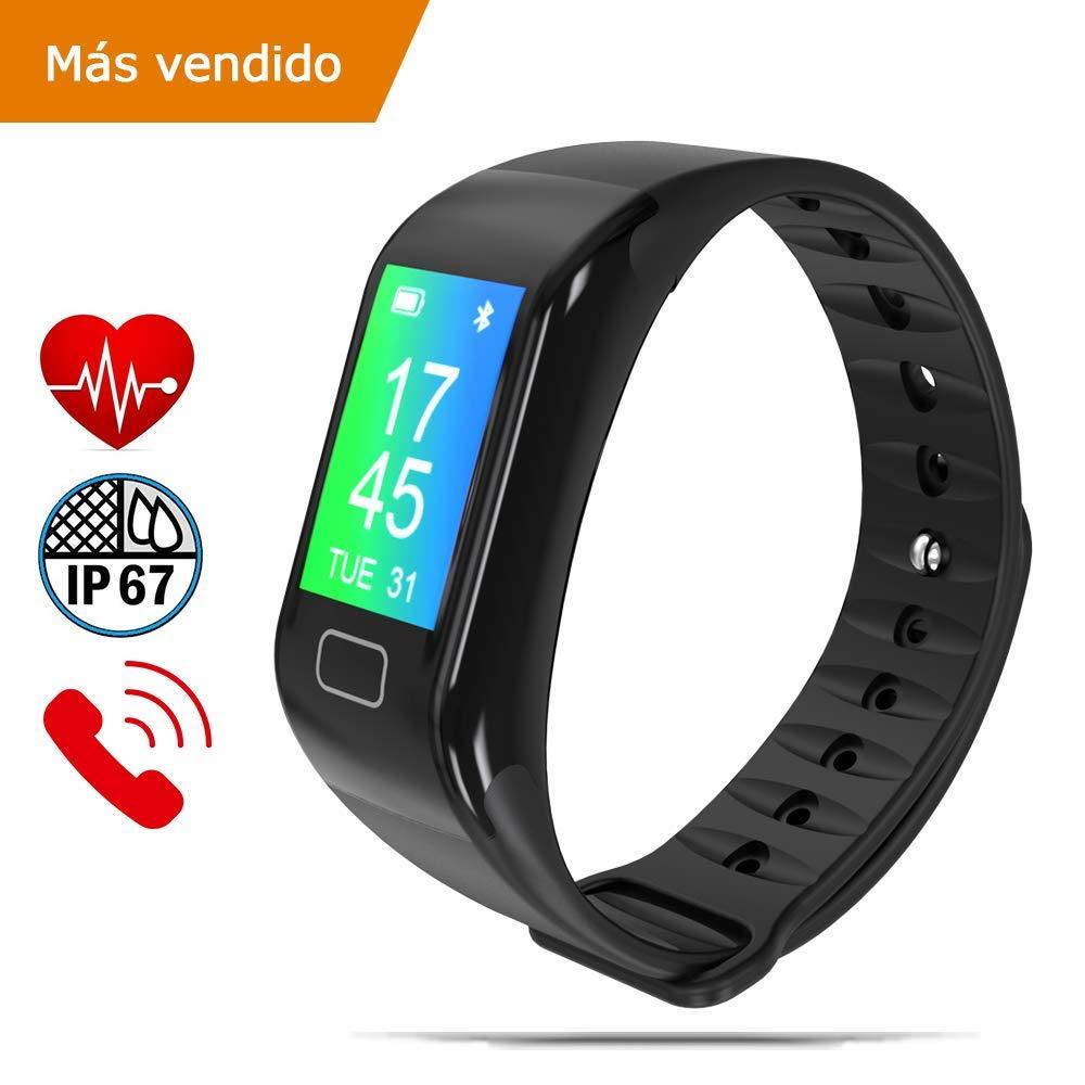 NK Pulsera de Actividad Inteligente Smartband-02, Frecuencia cardíaca, Monitor del sueño, Resistencia al Agua IP67… 1