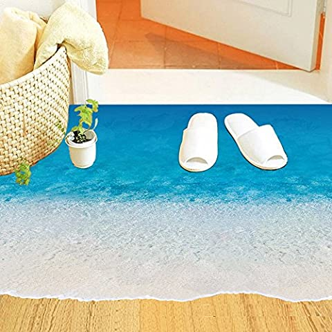Winhappyhome 3D realistici Waves Beach terra adesivi in ??vinile Decor
